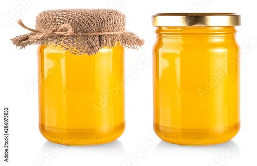 Stampa su Tela The honey bank isolated on white background