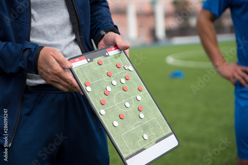 Leinwand Poster Football tactic education