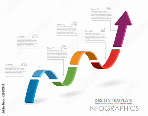 Tableau sur Toile Infographic design template with place for your data