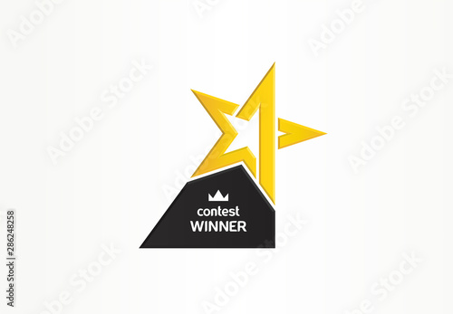 Canvastavla First place, contest winner, number one creative symbol concept