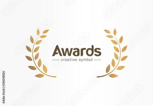Valokuva Golden laurel wreath creative symbol concept