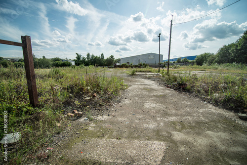 Brownfield land, former site of industrial waste and scrap processing works, Wes Fototapeta