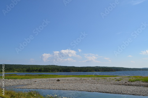 Wallpaper Mural Summer in Nova Scotia: Catalone Lake near Bateston on Cape Breton Island