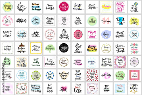 Canvas Print Hand lettering photography overlay set