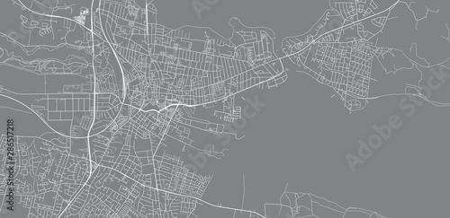 Photo Urban vector city map of Horsen, Denmark