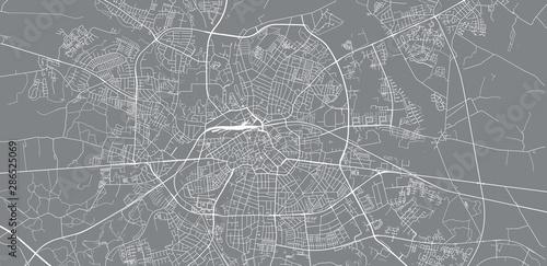 Photo Urban vector city map of Odense, Denmark