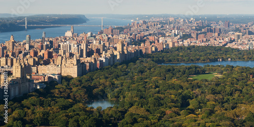 Photographie Aerial view of the Central Park and Manhattan, Upper West Side