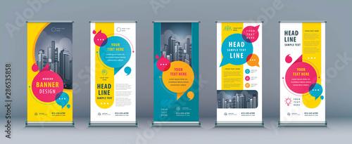 Business Roll Up Set. Standee Design. Banner Template