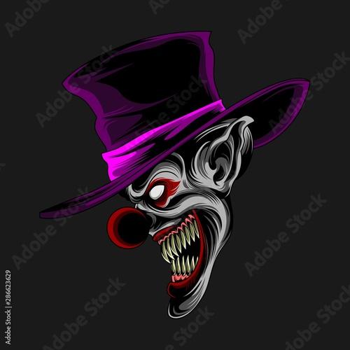 Fotografia purple hat clown vector