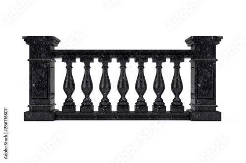 Fotografía Classic Black Marble Pillars Balustrade with Columns