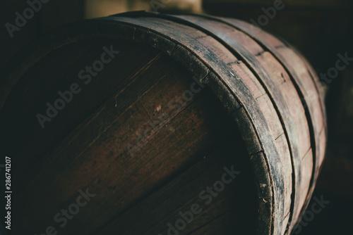 Old barrel background, cask close up Fototapet