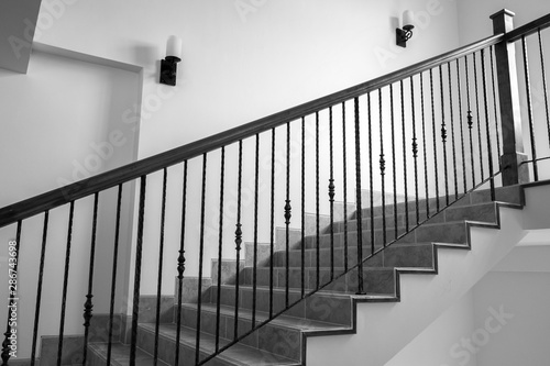 Photo Ornate handrail of wrought iron