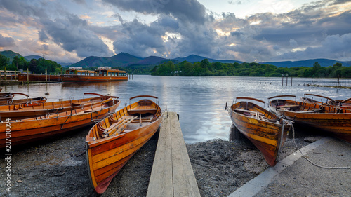 Tableau sur Toile Derwent Water from Keswick, Lake District National Park, UK