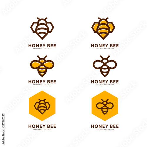 Obraz na plátně Honey bee set