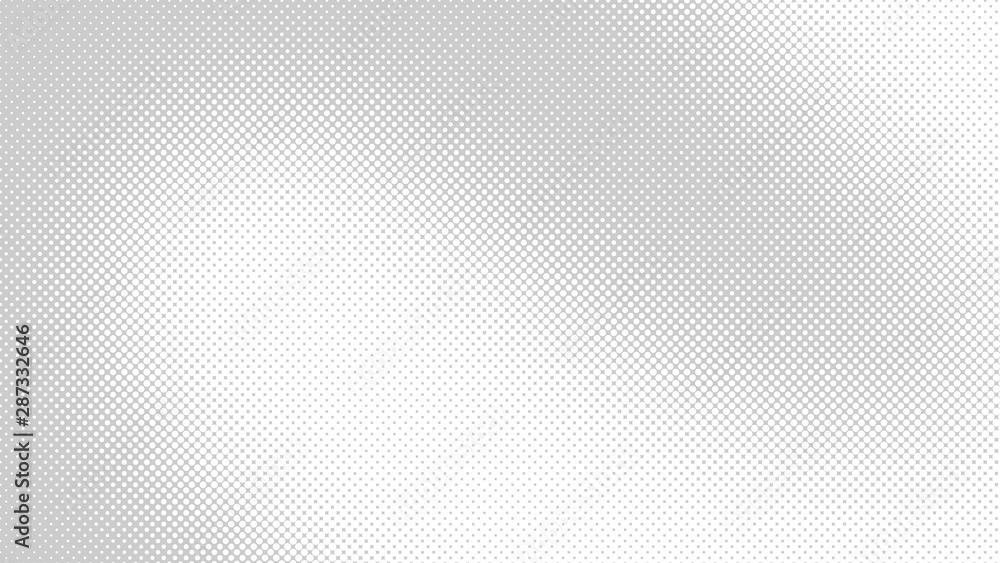Light grey retro comic pop art background with haftone dots design. Vector clear template for banner or comic book design, etc <span>plik: #287332646 | autor: Sorokin</span>