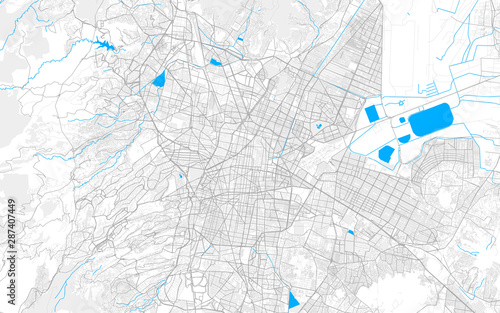 Fototapeta Rich detailed vector map of Mexico City, Mexico City, Mexico