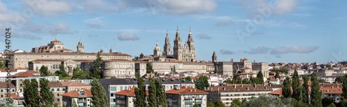 Leinwand Poster Santiago de Compostela wide panoramic view