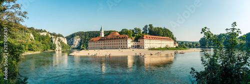 Panorama view on Weltenburg Abbey - Kloster Weltenburg Fototapeta