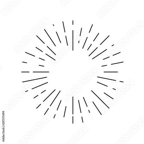 Canvas Print Rays linear drawn symbol
