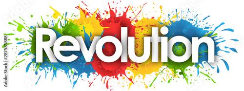Fotografia Revolution in splash's background