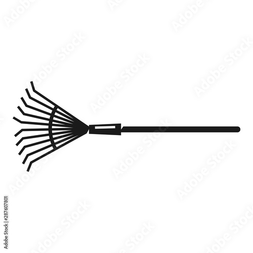 Obraz na płótnie Leaf rake icon