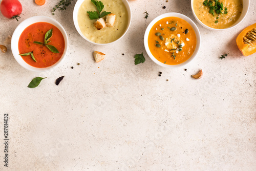 Canvas Print Soup Assortment