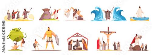 Obraz na plátně Bible Narratives Characters Set