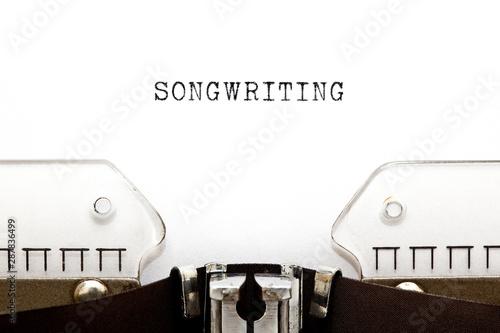 Obraz na plátně Songwriting Retro Typewriter Concept