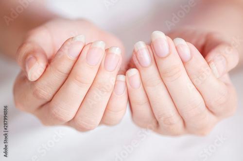 Fotografija Close-Up long fingernail of women on background blurred, Concept of health care of the fingernail