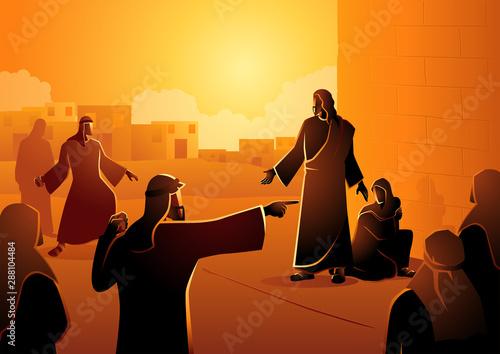 Jesus Forgives Adulterous Woman Fototapeta