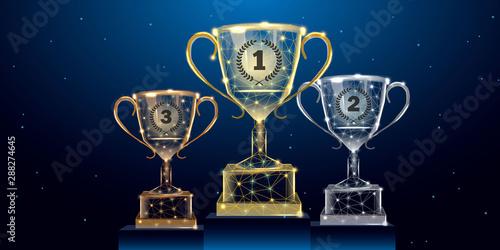 Cuadros en Lienzo Trophy cups set