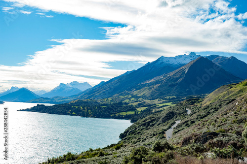 Obraz na plátne View of Mount Creighton,Bennett Bluff Lookout,NZ