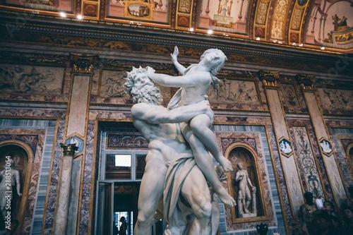 Baroque marble sculpture Rape of Proserpine by Bernini 1621 in Galleria Borghese Fototapeta