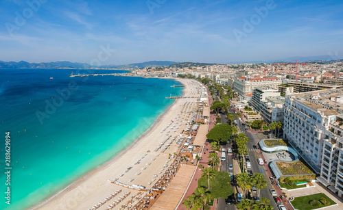 Платно Panorama of Cannes, Cote d'Azur, France, South Europe