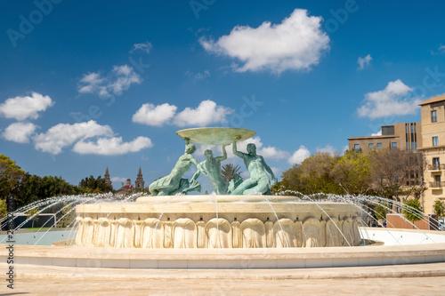 Obraz na płótnie Malta. Valletta landmarks. Triton fountain.