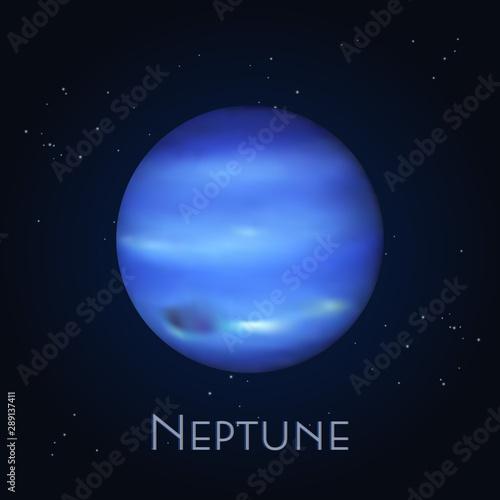 Isolated Neptune. Farthest planet in solar system Fototapeta