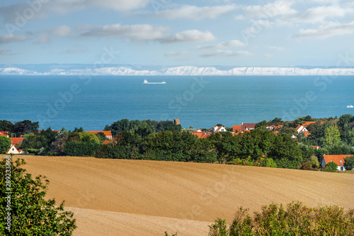 magnificent panorama of the northern coast of France with the view of the Englis Fototapeta