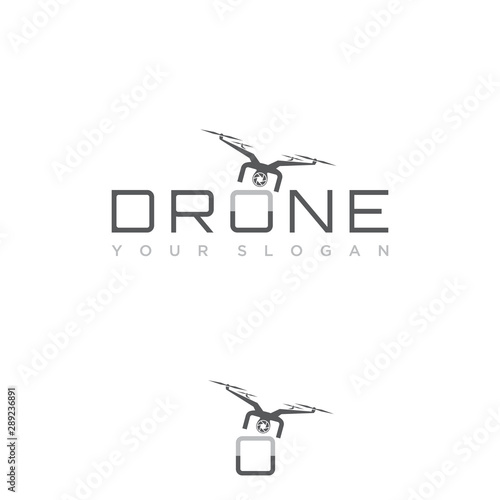 Fotografía Design flying drone on the font o for your best business symbol