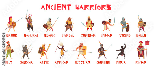 Fotografie, Obraz Ancient Warriors Set