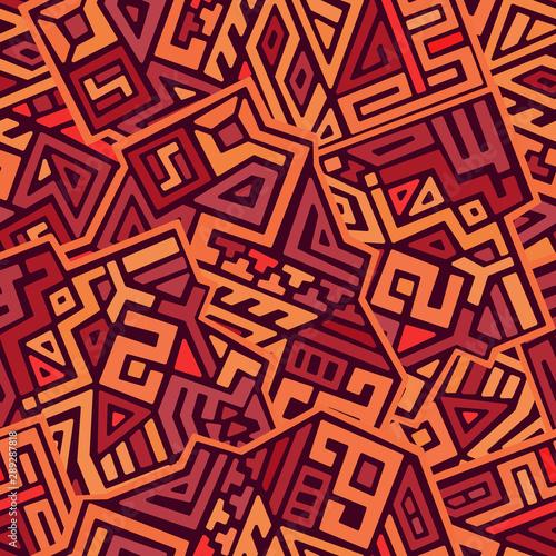 Fototapeta Creative ethnic style vector seamless pattern