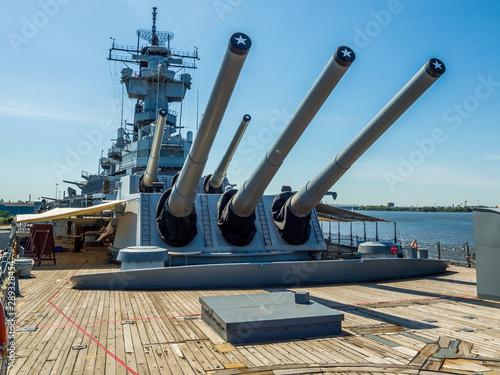Billede på lærred Guns of Battleship New Jersey