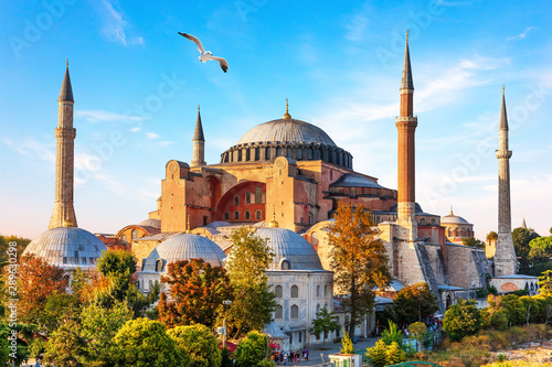 Fototapeta Famous Hagia Sophia Mosque in Istanbul, Turkey