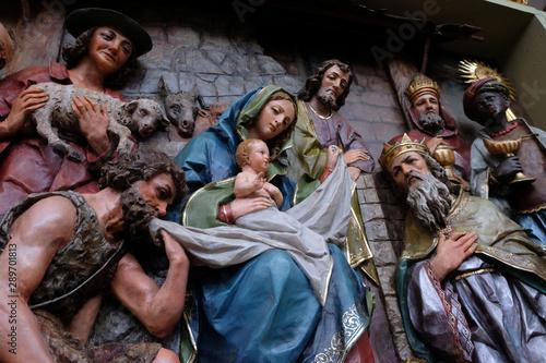 Slika na platnu Nativity Scene, altarpiece in the church of Saint Matthew in Stitar, Croatia