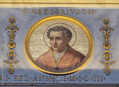 Pope Gregory VII Latin: Gregorius VII, born Hildebrand of Sovana, basilica of Sa Fototapeta