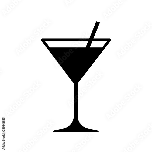 Martini cocktail icon, drink glass sign – stock vector