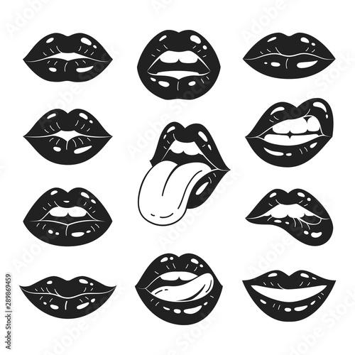 Lips collection Fototapeta