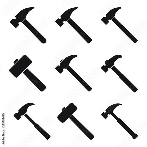 Tablou Canvas Hammer icon, hammer symbol, vector.