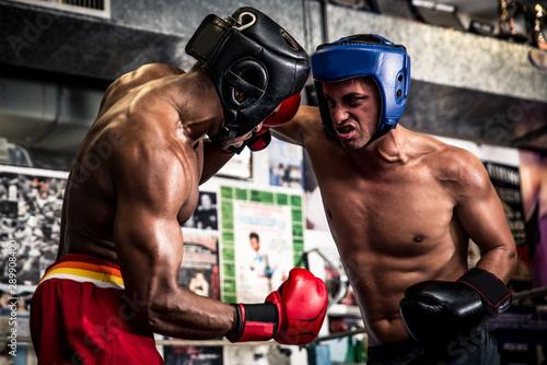 Cuadros en Lienzo Friendly boxing sparring