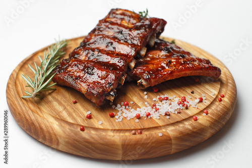 Fotografie, Obraz pork ribs on a wooden