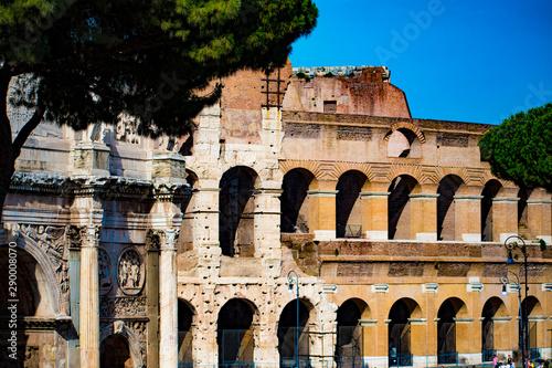 Slika na platnu Arches roman coloseum